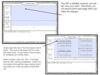 Survey Says! Name Writing Practice + Survey Graphing Fun!-Editable 4