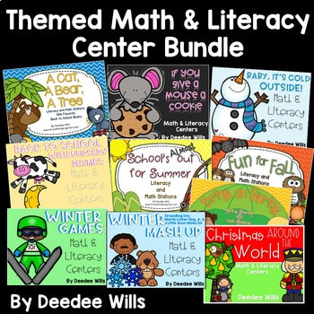 The BUNDLE: Themed Literacy and Math Stations 1