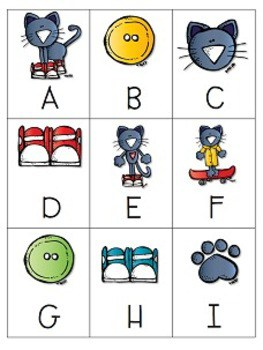 The Cat's Pajamas Memory and ABC Game-Editable 2