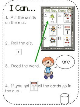 Thin Ice Beginning Sight Words Roll, Say, Keep-Editable 2