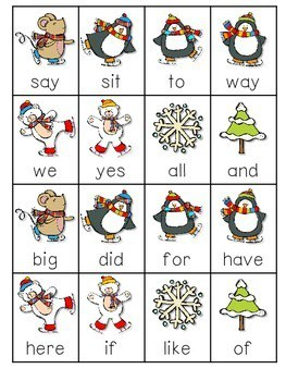 Thin Ice Beginning Sight Words Roll, Say, Keep-Editable 3