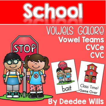 Vowel Teams: Back to School Game 1