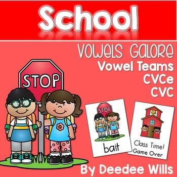Vowel Teams: Back to School Game 1