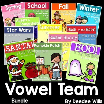 Vowel Teams and CVCe Mega Game BUNDLE 1