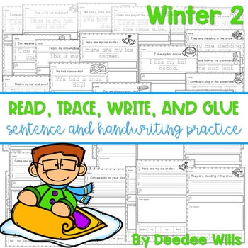 Winter 2 Read, Trace, Glue, and Draw 1