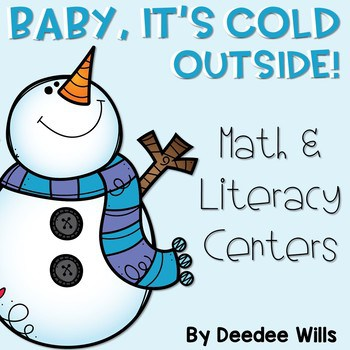 Winter Literacy and Math Stations-Baby It's Cold Outside 1
