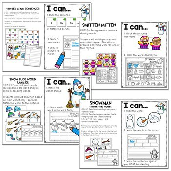 Winter Literacy and Math Stations-Baby It's Cold Outside 2