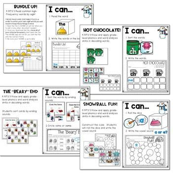 Winter Literacy and Math Stations-Baby It's Cold Outside 3