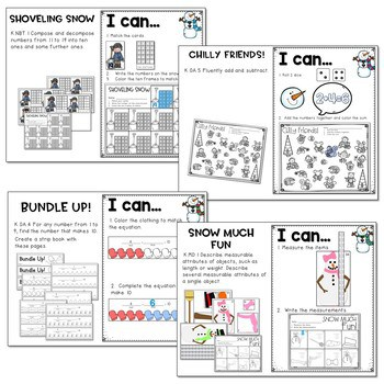 Winter Literacy and Math Stations-Baby It's Cold Outside 4