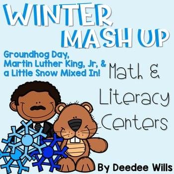 Winter Mash Up Literacy and Math Stations-CC 1