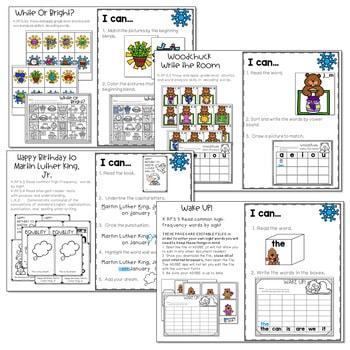 Winter Mash Up Literacy and Math Stations-CC 2