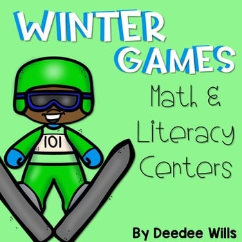 Winter Sports and Games! Math and Literacy Centers 1