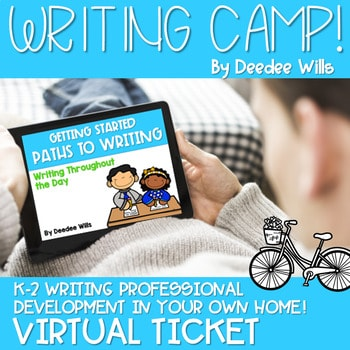 Writing Camp Professional Development Virtual Ticket 1