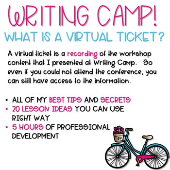 Writing Camp Professional Development Virtual Ticket 2