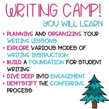 Writing Camp Professional Development Virtual Ticket 3