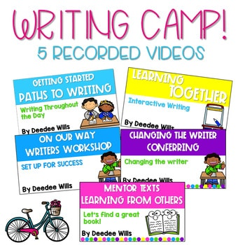 Writing Camp Professional Development Virtual Ticket 4