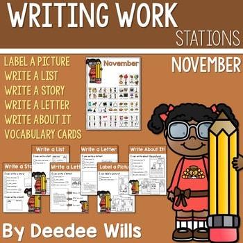 Writing Station for November 1