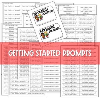 Kindergarten Math Journal Prompts | FREE GETTING STARTED 3