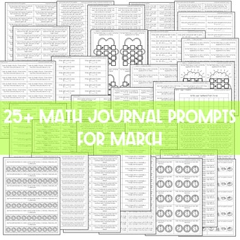 Math Journal Prompts for First-Grade | MARCH 3
