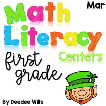 Math and Literacy Center Activities-First Grade March 1