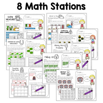 Math and Literacy Center Activities-First Grade March 3