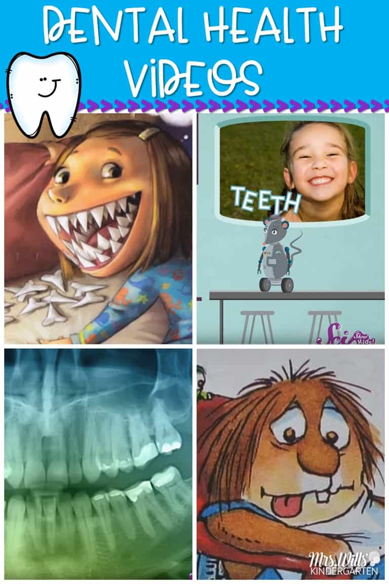Kid friendly dental health videos for kindergarten and 1st grade. Your students will learn about teeth and dental hygiene with these fun videos.