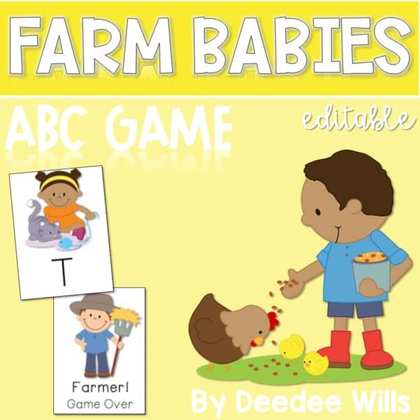 Farm Babies ABC Memory and Game Editable 1