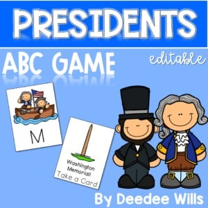 Presidents ABC Game