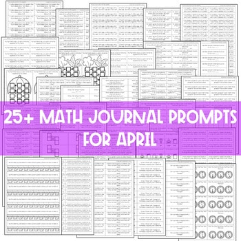 Math Journal Prompts for First-Grade | APRIL 3