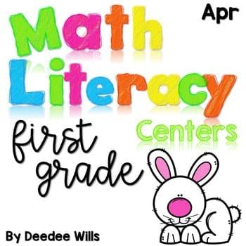 Math and Literacy Center Activities-First Grade April 1
