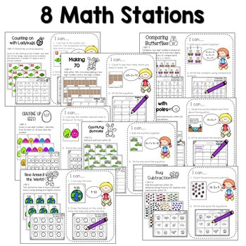 Math and Literacy Center Activities-First Grade April 3