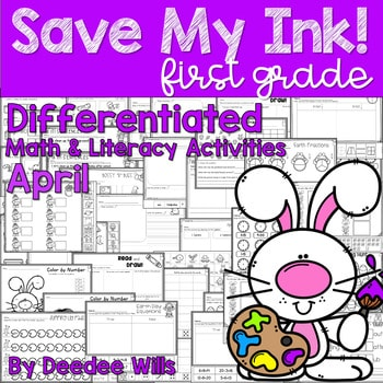 Save My INK: April 1st Grade Math and Literacy Activities 1