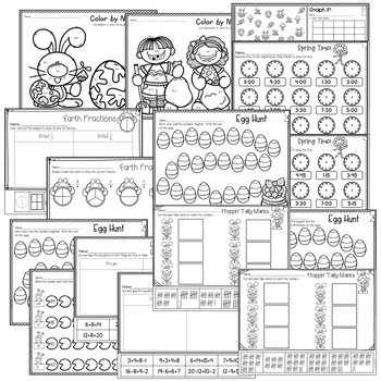 Save My INK: April 1st Grade Math and Literacy Activities 3