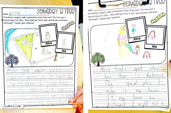 Someday a Tree lesson plans for K-2. Engaging lessons all planned for you to print and teach. Reading comprehension, responding to literature, sentence study, and more!