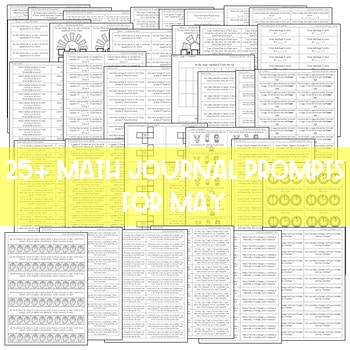 Math Journal Prompts for First-Grade | May 3