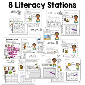 Math and Literacy Center Activities-First Grade May 2