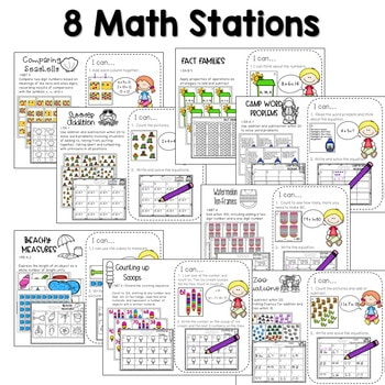 Math and Literacy Center Activities-First Grade May 3