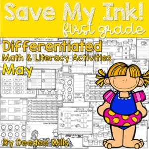 Save My INK: Summer to 1st NO PREP Math and Literacy Worksheets 8