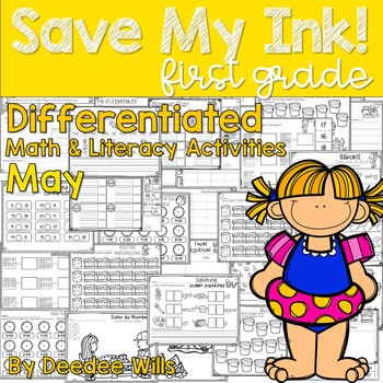 Save My INK: May 1st Grade Math and Literacy Activities 1