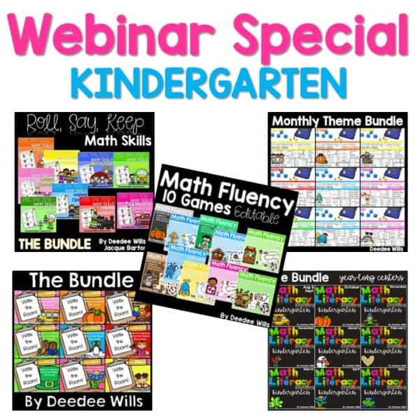 Kindergarten Special Webinar 1