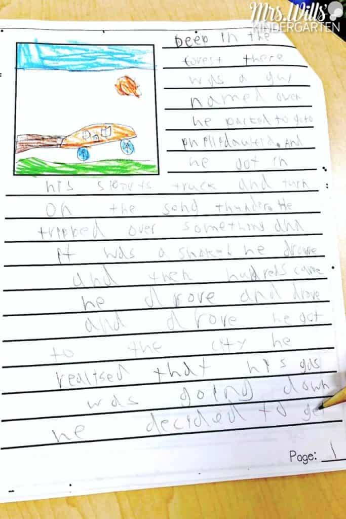 fiction writing second grade writing samples in writers workshop