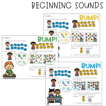 BUMP Games Monthly Math and Literacy August 2