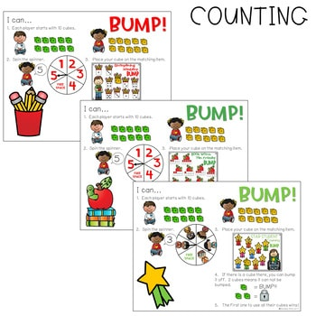 BUMP Games Monthly Math and Literacy August 4