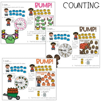 BUMP Games Monthly Math and Literacy October 4