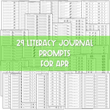 Literacy Journal Prompts for Kindergarten | Apr 2
