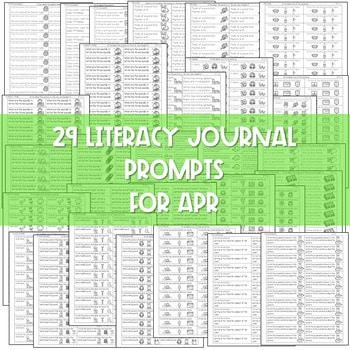 Literacy Journal Prompts for Kindergarten | Apr 2