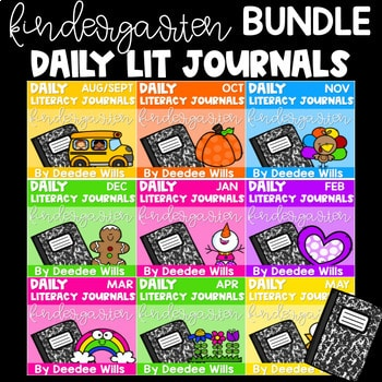 Literacy Journal Prompts for Kindergarten | BUNDLE 1
