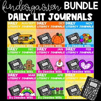 Literacy Journal Prompts for Kindergarten | BUNDLE 1
