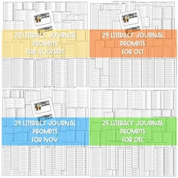 Literacy Journal Prompts for Kindergarten | BUNDLE 2