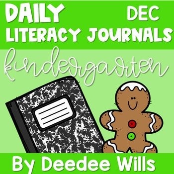 Literacy Journal Prompts for Kindergarten | Dec 1